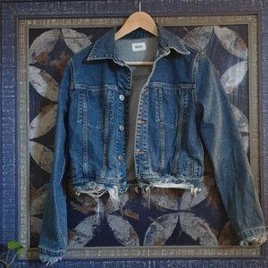 Hudson cropped denim jacket size small